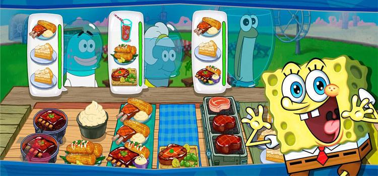 بازی های موبایل SpongeBob Krusty Cook Off